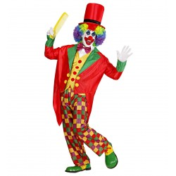 bozo le clown cirque animation multicolore homme