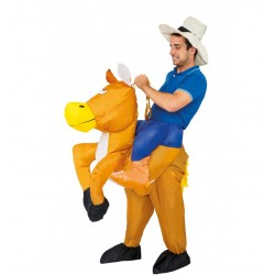 cow boy gonflable costume air cavalier western