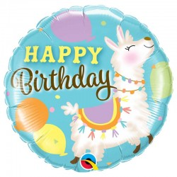 lama animal happy birthday anniversaire enfant ballon hélium aluminium métal