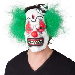 Masque latex clown d'horreur