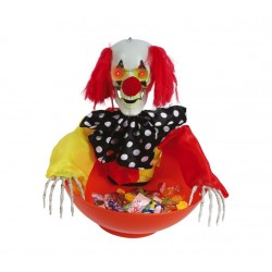 Coupe clown animé bonbon