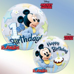 Ballon bubble Baby Mickey...