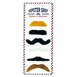 Lot de 6 moustaches