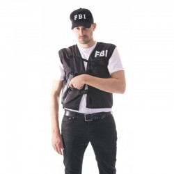 Gilet FBI noir adulte