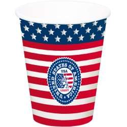 8 Gobelets USA Party 700ml