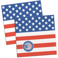20 Serviettes drapeau USA...