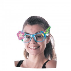 Lunettes turquoises tropicales